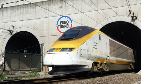 Channel tunnel Eurostar Eurotunnel train