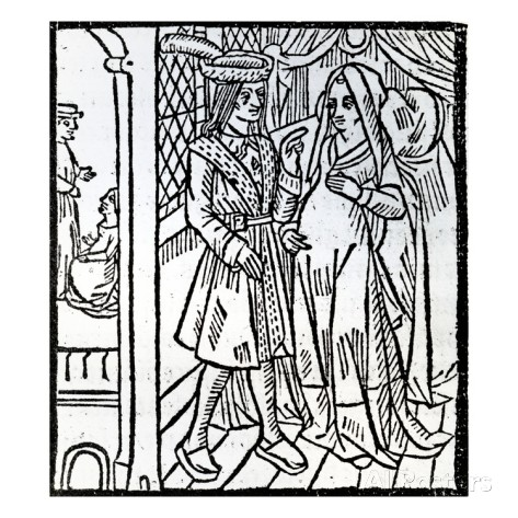 A 1465 woodcut of 'La Farce de maître Pierre Pathelin' [Picture 3]