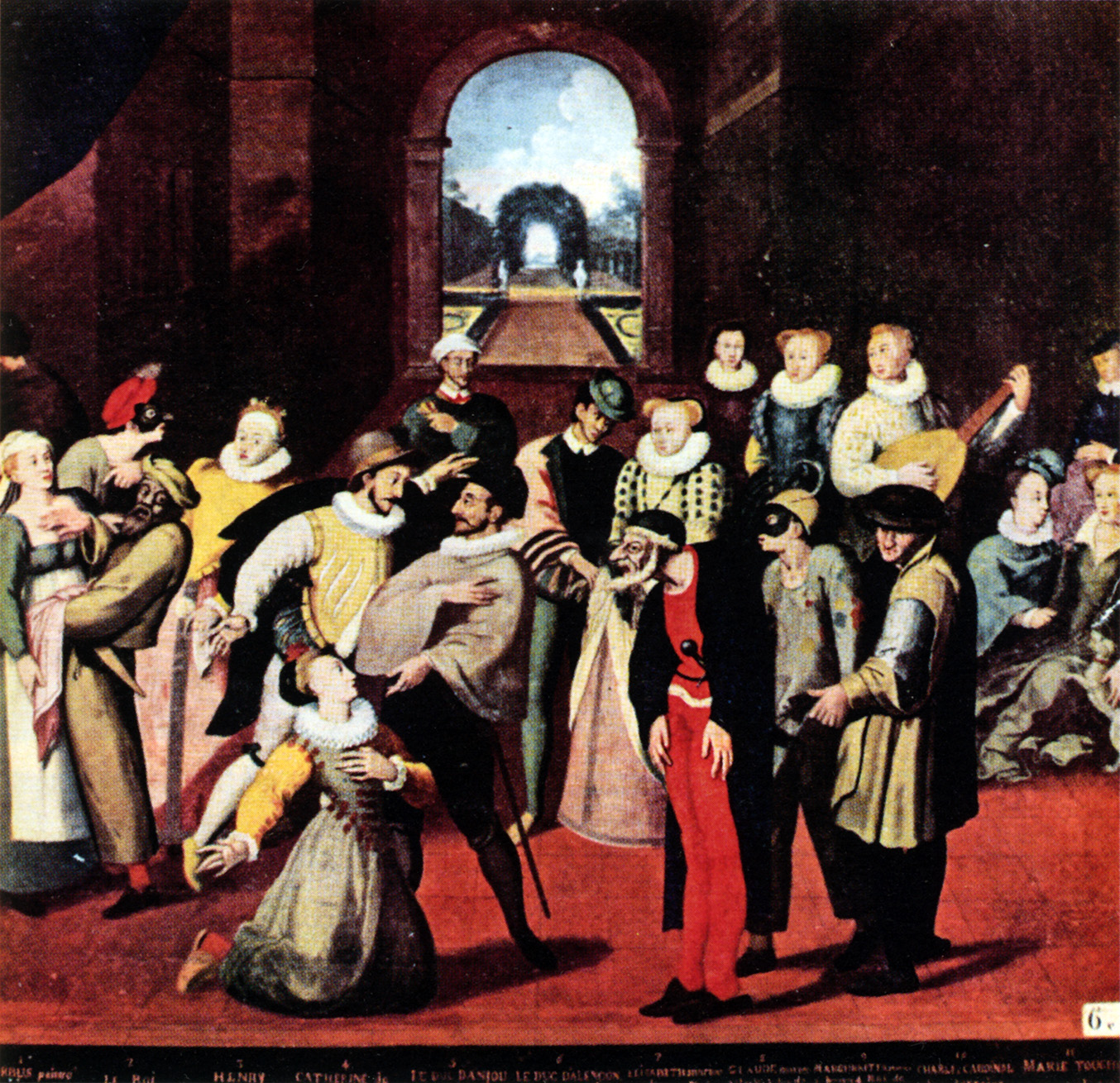 Catherine de' Medici playing the role of 'Columbine', possibly with the Ganassa troupe (c. 1574) [Picture 4]