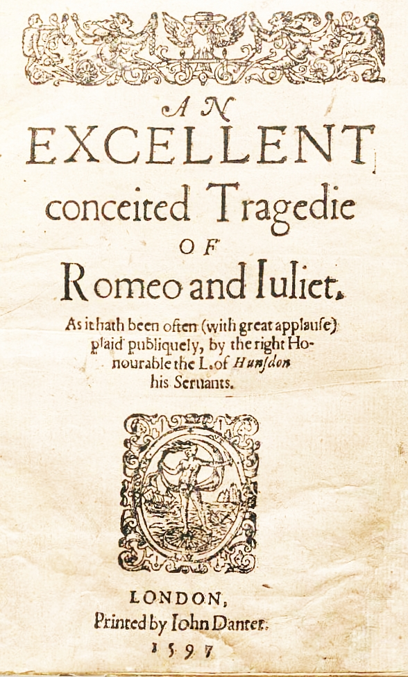 The title-page of the first edition of Shakespeare's 'Romeo and Juliet' (1597) [Picture 5]